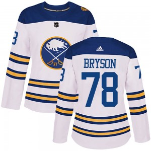 Jacob Bryson Buffalo Sabres Women's Adidas Authentic White 2018 Winter Classic Jersey