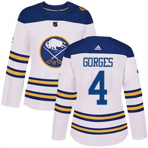 Josh Gorges Buffalo Sabres Women's Adidas Authentic White 2018 Winter Classic Jersey