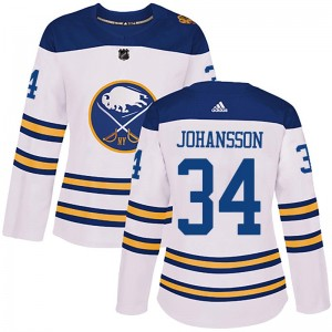 Jonas Johansson Buffalo Sabres Women's Adidas Authentic White 2018 Winter Classic Jersey