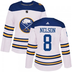 Casey Nelson Buffalo Sabres Women's Adidas Authentic White 2018 Winter Classic Jersey