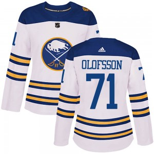 Victor Olofsson Buffalo Sabres Women's Adidas Authentic White 2018 Winter Classic Jersey