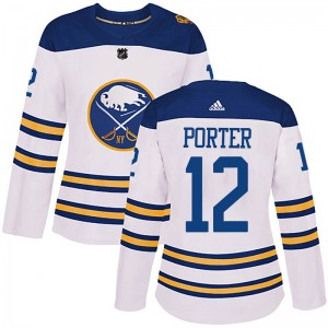 Kevin Porter Buffalo Sabres Women's Adidas Authentic White 2018 Winter Classic Jersey