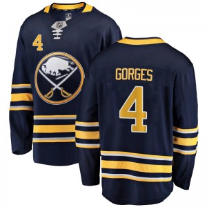 Josh Gorges Buffalo Sabres Youth Fanatics Branded Navy Blue Breakaway Home Jersey