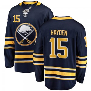 John Hayden Buffalo Sabres Youth Fanatics Branded Navy Blue Breakaway Home Jersey