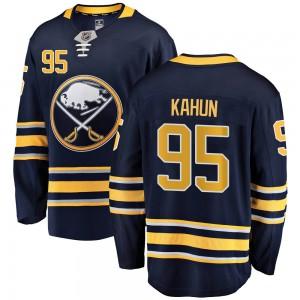 Dominik Kahun Buffalo Sabres Youth Fanatics Branded Navy Blue ized Breakaway Home Jersey