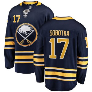Vladimir Sobotka Buffalo Sabres Youth Fanatics Branded Navy Blue Breakaway Home Jersey