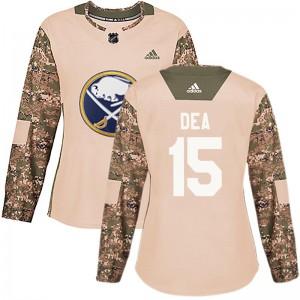 Jean-Sebastien Dea Buffalo Sabres Women's Adidas Authentic Camo Veterans Day Practice Jersey