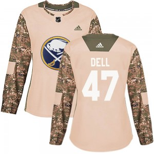 Aaron Dell Buffalo Sabres Women's Adidas Authentic Camo Veterans Day Practice Jersey