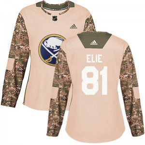 Remi Elie Buffalo Sabres Women's Adidas Authentic Camo Veterans Day Practice Jersey