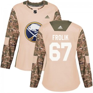 Michael Frolik Buffalo Sabres Women's Adidas Authentic Camo Veterans Day Practice Jersey