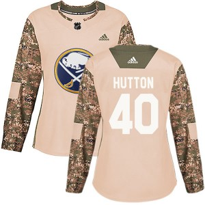 Carter Hutton Buffalo Sabres Women's Adidas Authentic Camo Veterans Day Practice Jersey