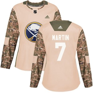 Rick Martin Buffalo Sabres Women's Adidas Authentic Camo Veterans Day Practice Jersey