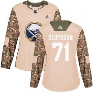 Victor Olofsson Buffalo Sabres Women's Adidas Authentic Camo Veterans Day Practice Jersey
