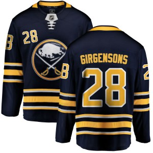 Zemgus Girgensons Buffalo Sabres Men's Fanatics Branded Blue Home Breakaway Jersey