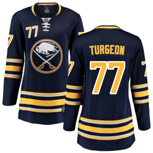 Pierre Turgeon Buffalo Sabres Women's Fanatics Branded Blue Home Breakaway Jersey