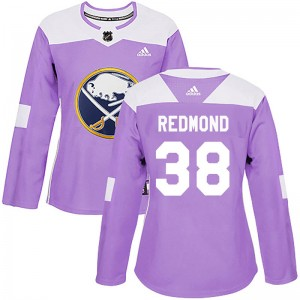 Zach Redmond Buffalo Sabres Women's Adidas Authentic Purple Fights Cancer Practice Jersey