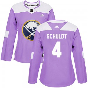Jimmy Schuldt Buffalo Sabres Women's Adidas Authentic Purple Fights Cancer Practice Jersey