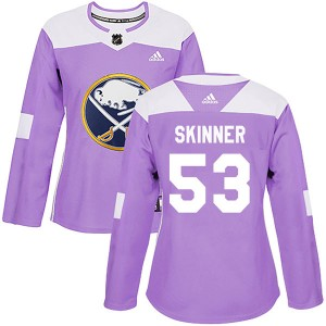 Jeff Skinner Buffalo Sabres Women's Adidas Authentic Purple Fights Cancer Practice Jersey