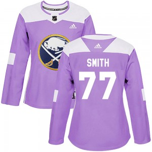 Dalton Smith Buffalo Sabres Women's Adidas Authentic Purple Fights Cancer Practice Jersey