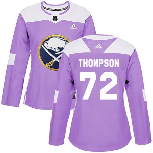 Tage Thompson Buffalo Sabres Women's Adidas Authentic Purple Fights Cancer Practice Jersey