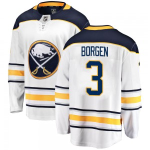 Will Borgen Buffalo Sabres Youth Fanatics Branded White Breakaway Away Jersey