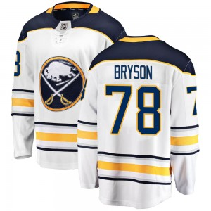 Jacob Bryson Buffalo Sabres Youth Fanatics Branded White Breakaway Away Jersey
