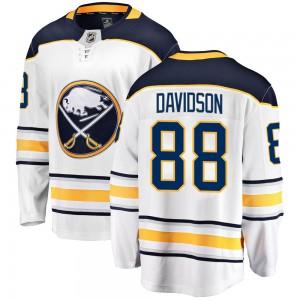 Brandon Davidson Buffalo Sabres Youth Fanatics Branded White Breakaway Away Jersey