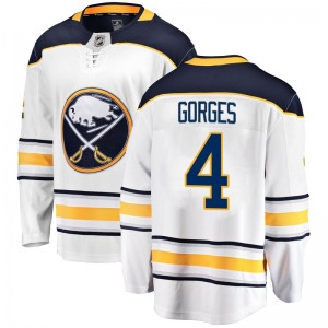 Josh Gorges Buffalo Sabres Youth Fanatics Branded White Breakaway Away Jersey