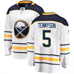 Matt Tennyson Buffalo Sabres Youth Fanatics Branded White Breakaway Away Jersey