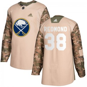 Zach Redmond Buffalo Sabres Men's Adidas Authentic Red Camo Veterans Day Practice Jersey