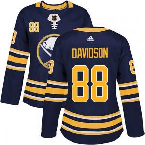 Brandon Davidson Buffalo Sabres Women's Adidas Authentic Navy Home Jersey