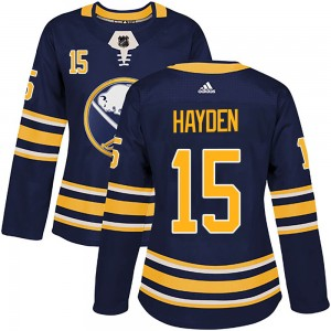 John Hayden Buffalo Sabres Women's Adidas Authentic Navy Home Jersey