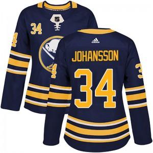 Jonas Johansson Buffalo Sabres Women's Adidas Authentic Navy Home Jersey