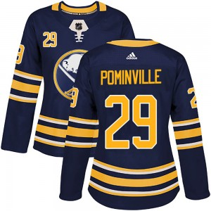 Jason Pominville Buffalo Sabres Women's Adidas Authentic Navy Home Jersey