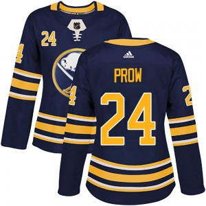Ethan Prow Buffalo Sabres Women's Adidas Authentic Navy Home Jersey