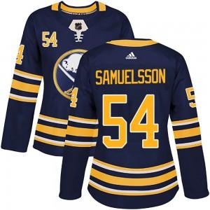 Mattias Samuelsson Buffalo Sabres Women's Adidas Authentic Navy Home Jersey