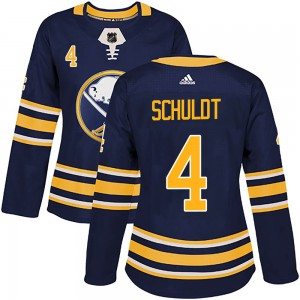Jimmy Schuldt Buffalo Sabres Women's Adidas Authentic Navy Home Jersey