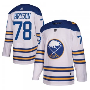 Jacob Bryson Buffalo Sabres Youth Adidas Authentic White 2018 Winter Classic Jersey