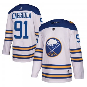 Drake Caggiula Buffalo Sabres Youth Adidas Authentic White 2018 Winter Classic Jersey
