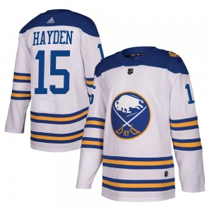 John Hayden Buffalo Sabres Youth Adidas Authentic White 2018 Winter Classic Jersey