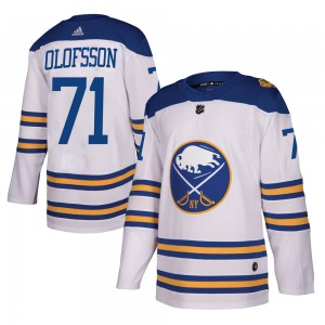 Victor Olofsson Buffalo Sabres Youth Adidas Authentic White 2018 Winter Classic Jersey