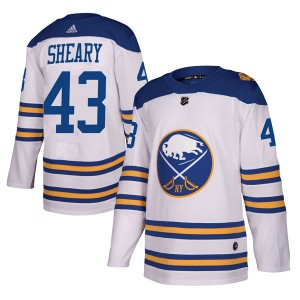 Conor Sheary Buffalo Sabres Youth Adidas Authentic White 2018 Winter Classic Jersey