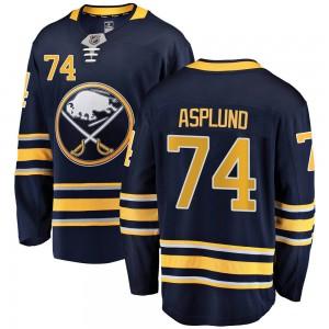 Rasmus Asplund Buffalo Sabres Men's Fanatics Branded Navy Blue Breakaway Home Jersey