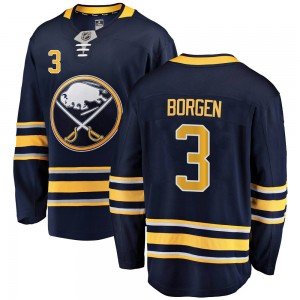 Will Borgen Buffalo Sabres Men's Fanatics Branded Navy Blue Breakaway Home Jersey