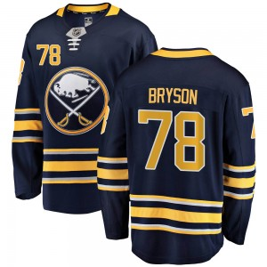 Jacob Bryson Buffalo Sabres Men's Fanatics Branded Navy Blue Breakaway Home Jersey