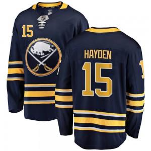 John Hayden Buffalo Sabres Men's Fanatics Branded Navy Blue Breakaway Home Jersey