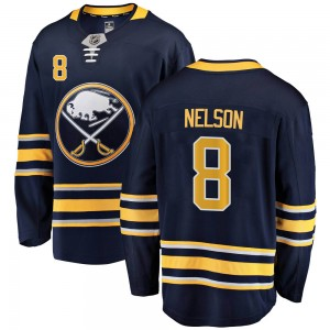Casey Nelson Buffalo Sabres Men's Fanatics Branded Navy Blue Breakaway Home Jersey