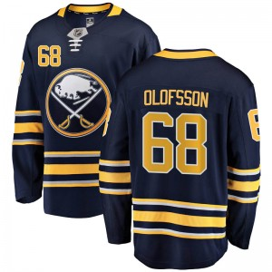 Victor Olofsson Buffalo Sabres Men's Fanatics Branded Navy Blue Breakaway Home Jersey
