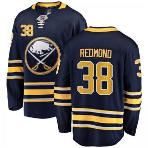 Zach Redmond Buffalo Sabres Men's Fanatics Branded Navy Blue Breakaway Home Jersey