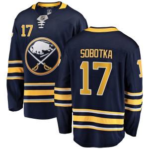 Vladimir Sobotka Buffalo Sabres Men's Fanatics Branded Navy Blue Breakaway Home Jersey